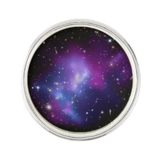 Purple Galaxy Cluster Lapel Pin