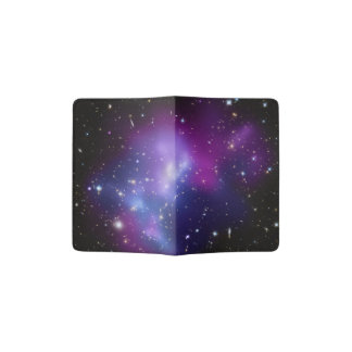 Purple Galaxy Cluster Passport Holder