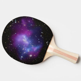 Purple Galaxy Cluster Ping Pong Paddle