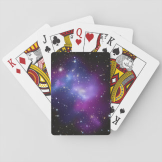 Purple Galaxy Cluster Playing Cards