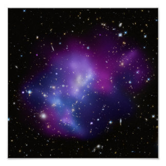 Purple Galaxy Cluster Poster