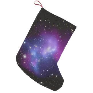 Purple Galaxy Cluster Small Christmas Stocking