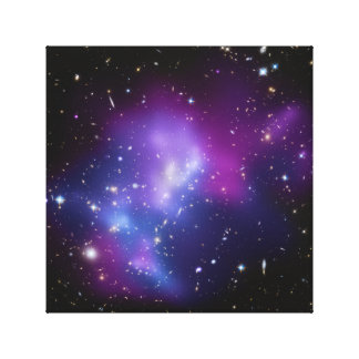 Purple Galaxy Cluster Wrapped Canvas Stretched Canvas Print