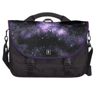 purple galaxy computer bag