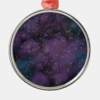 Purple Galaxy Nebula Christmas Ornament