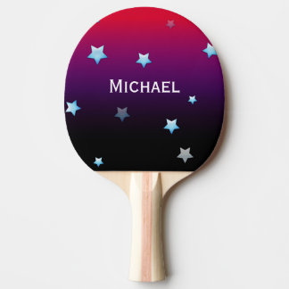 Purple Galaxy Personalized Ping Pong Paddle