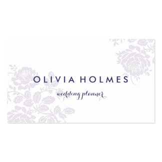 Purple Garden Floral Elegant Pattern Business Card