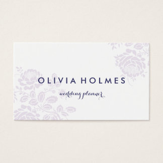 Purple Garden Floral Elegant Pattern Business Card