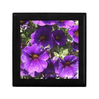 Purple Garden Flowers Jewelry Boxes