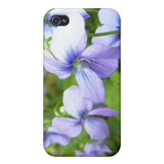 Purple Garden Flowers iPhone 4 Cover