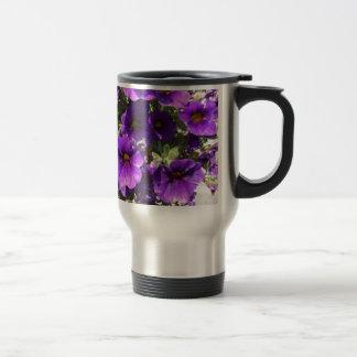 Purple Garden Flowers Coffee Mugs