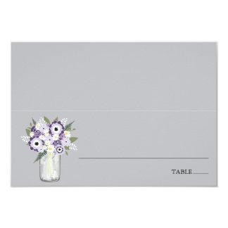 Purple Garden Mason Jar | Escort Place Card