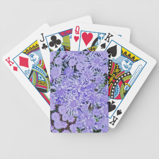 Purple garden of mums bicycle playing cards