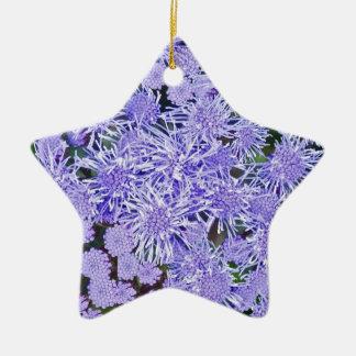 Purple garden of mums christmas ornament