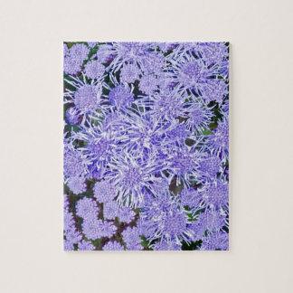Purple garden of mums jigsaw puzzle