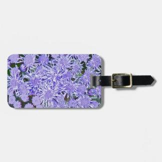 Purple garden of mums luggage tag