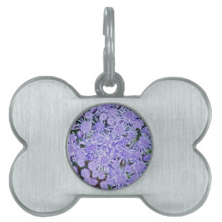 Purple garden of mums pet name tag