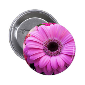 Purple Gebera Flower 6 Cm Round Badge