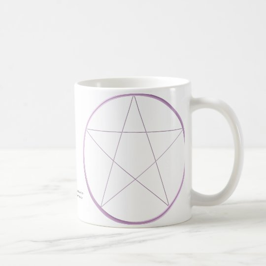 Purple Gel Pentacle Coffee Mug