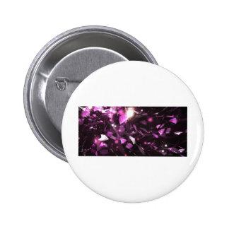 Purple Gem Design 6 Cm Round Badge
