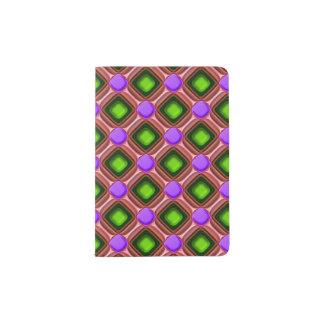 Purple Gem Pattern Passport Holder