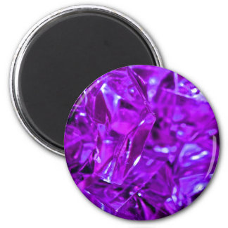 Purple gemstone crystal amethyst 6 cm round magnet