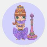 Purple Genie Sticker