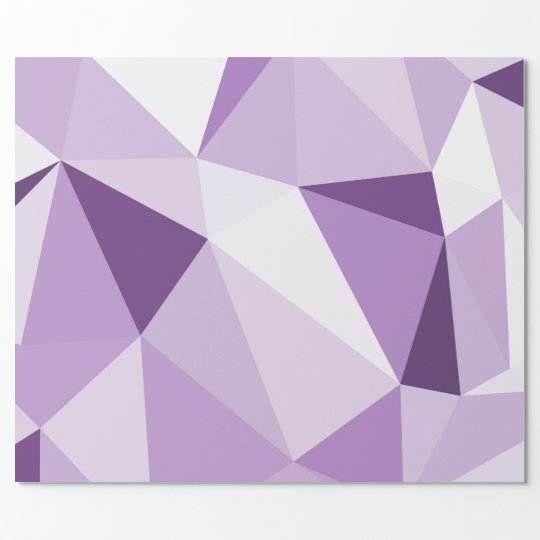 Purple Geometric Abstract Triangles Wrapping Paper