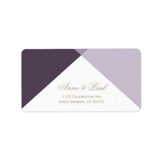 Purple geometric Address Labels
