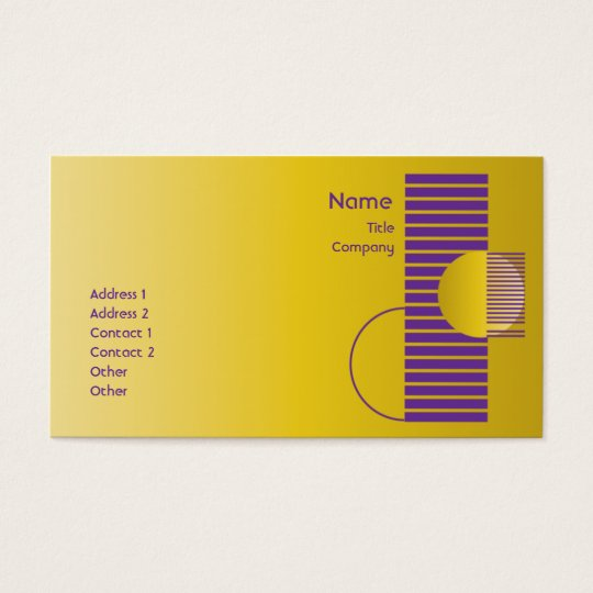 Purple Geometric - Business Business Card