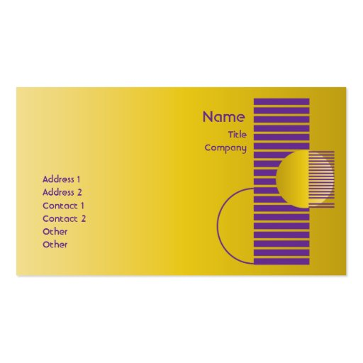 Purple Geometric - Business Pack Of Standard Business Cards