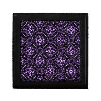 Purple Geometric Diamond Pattern Gift Box