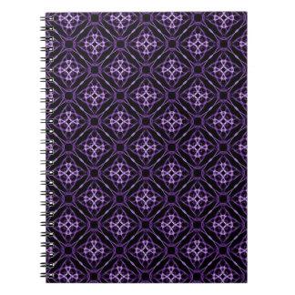 Purple Geometric Diamond Pattern Notebook
