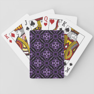 Purple Geometric Diamond Pattern Playing Cards