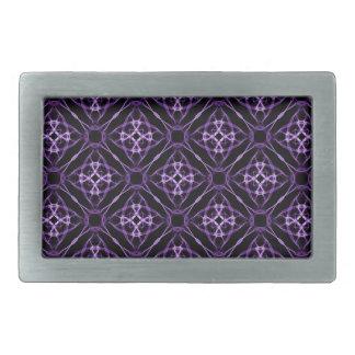 Purple Geometric Diamond Pattern Rectangular Belt Buckle
