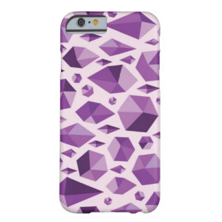 Purple geometric jewel shapes barely there iPhone 6 case
