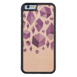 Purple geometric jewel shapes carved maple iPhone 6 bumper case
