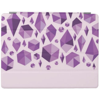 Purple geometric jewel shapes iPad cover