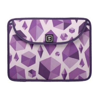 Purple geometric jewel shapes sleeve for MacBooks