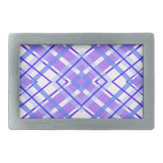 Purple Geometric Kaleidoscope pattern Rectangular Belt Buckle