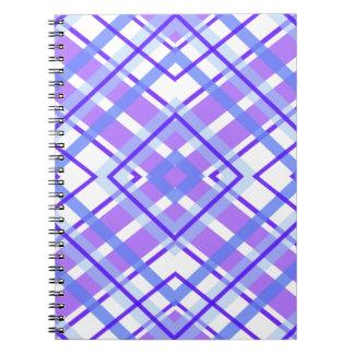 Purple Geometric Kaleidoscope pattern Spiral Notebook