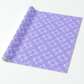 Purple Geometric Kaleidoscope pattern Wrapping Paper