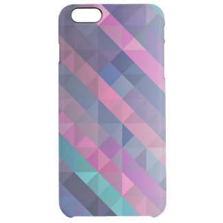 Purple Geometric Pattern Clear iPhone 6 Plus Case