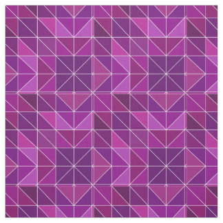 Purple Geometric Pattern Fabric