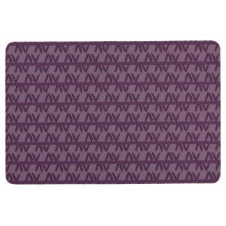 Purple Geometric Pattern Floor Mat