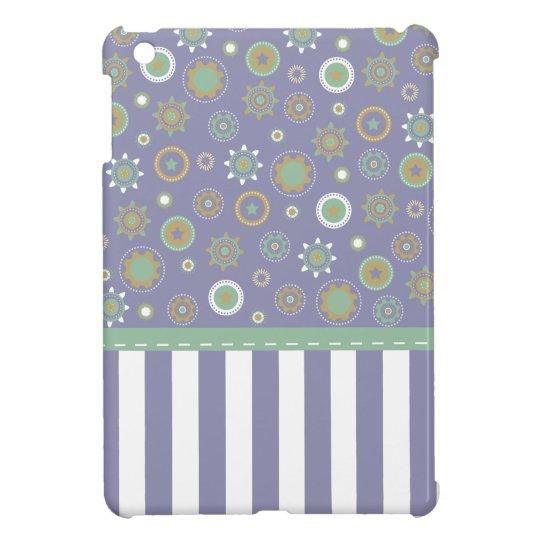 Purple Geometric Patterned Case iPad Mini Covers