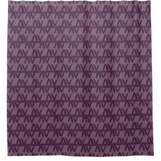Purple Geometric Patterned Shower Curtain
