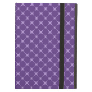 Purple Geometric Square, Circle Pattern iPad Air Cover
