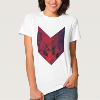 Purple geometric t-shirt