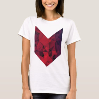 Purple geometric t-shirt